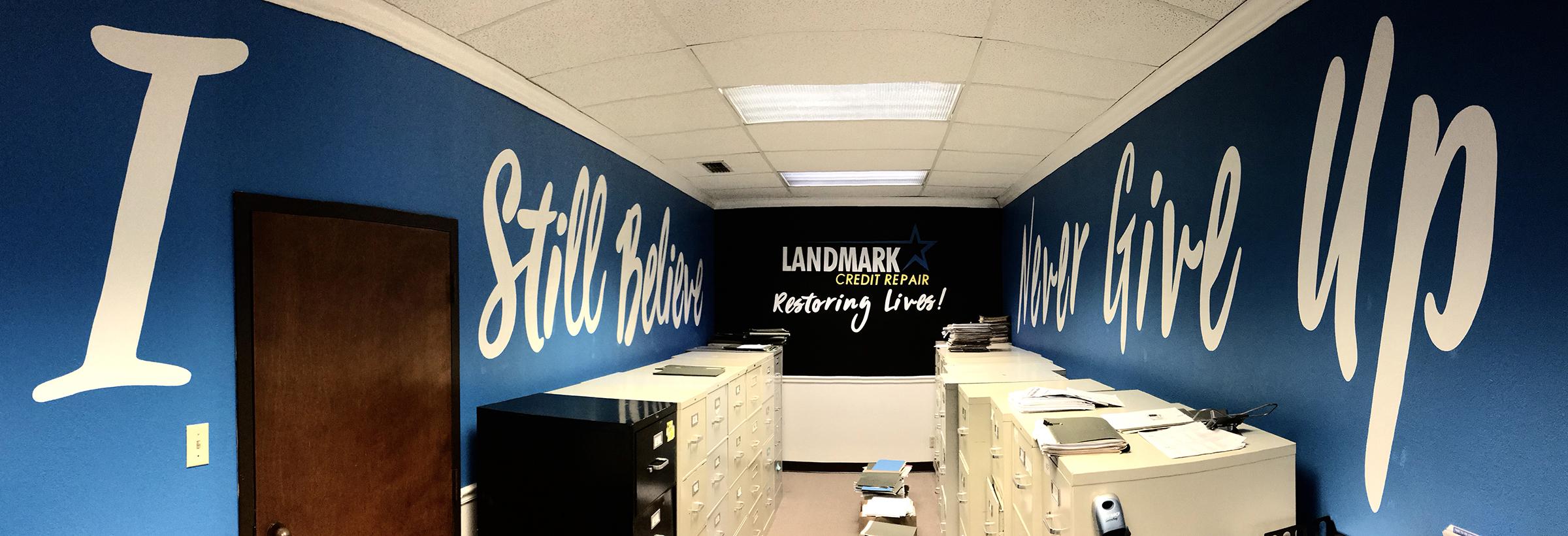 Landmark Credit Repair mural