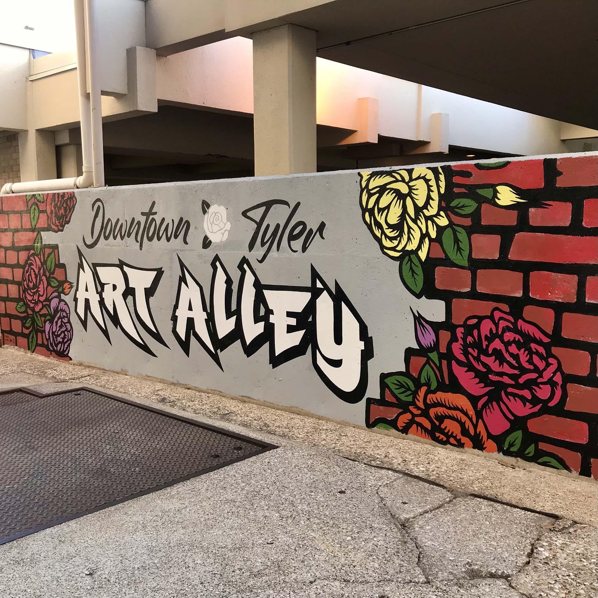 sign mural - custom mural - mural - Dace Kidd - Mural Artist Tx