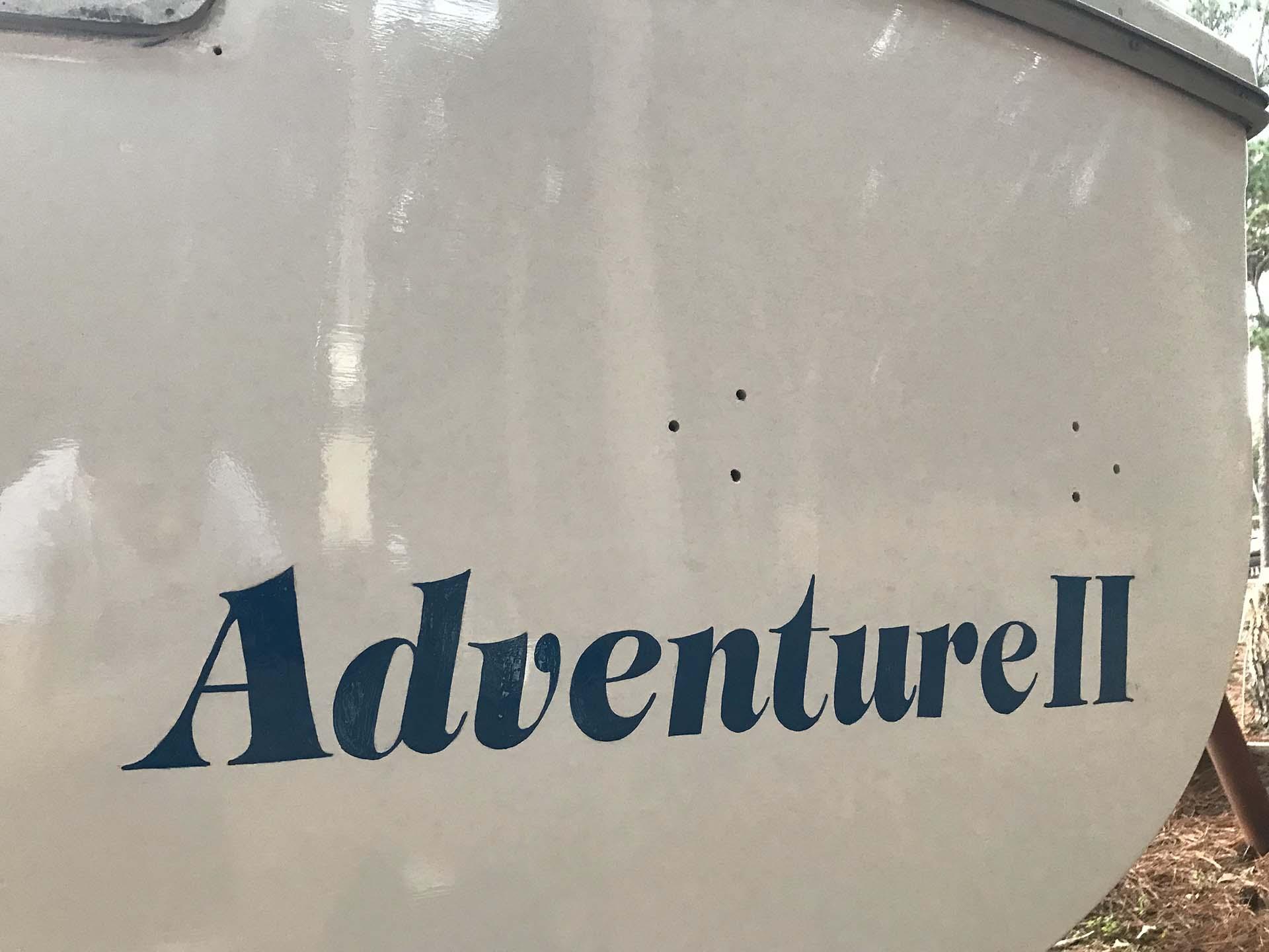 boat lettering - sign mural - hand lettering - custom mural - mural - Dace Kidd - Mural Artist Tx