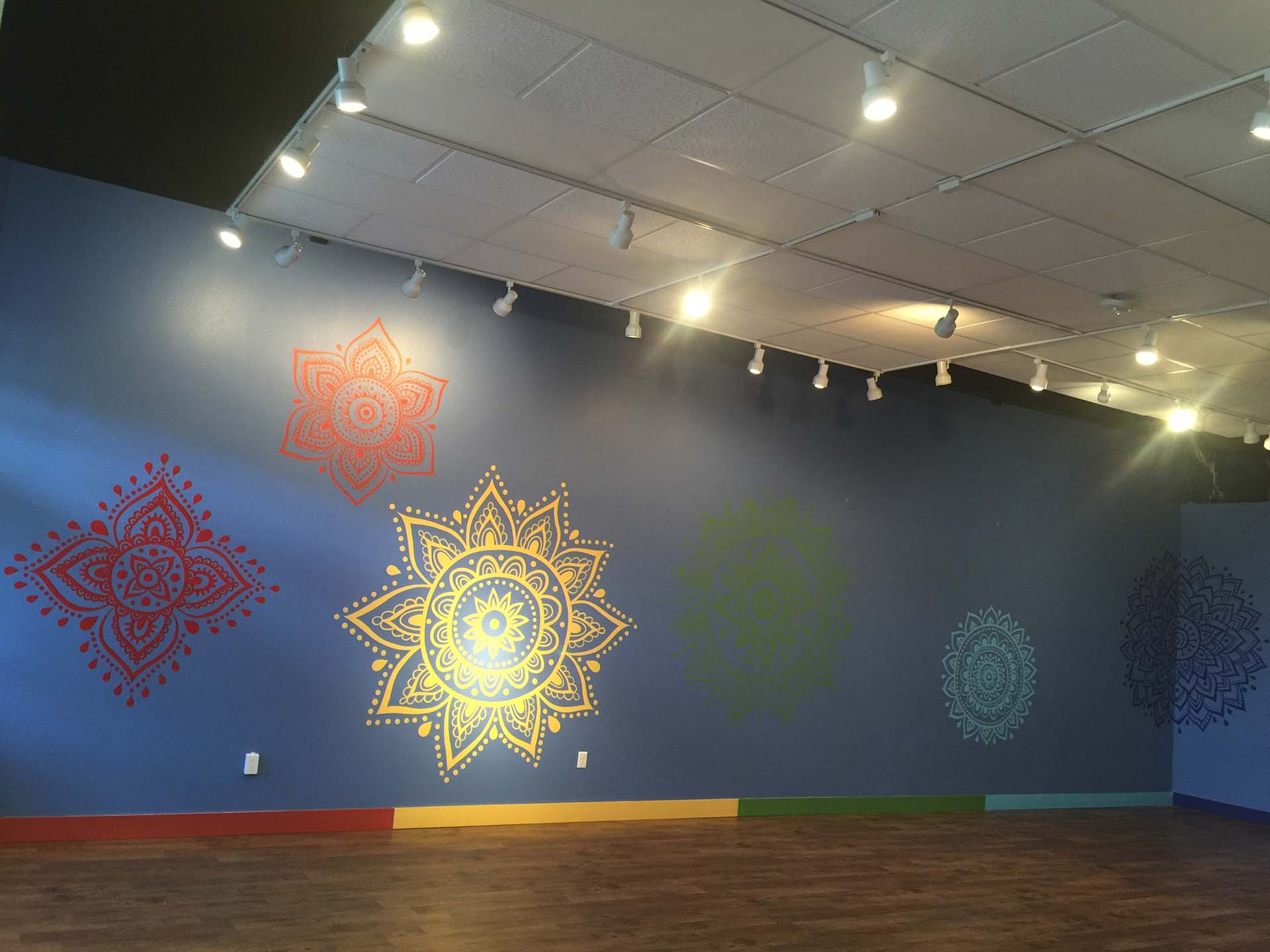 yoga mural - chakra mural - custom mural - mural - Dace Kidd - Mural Artist Tx