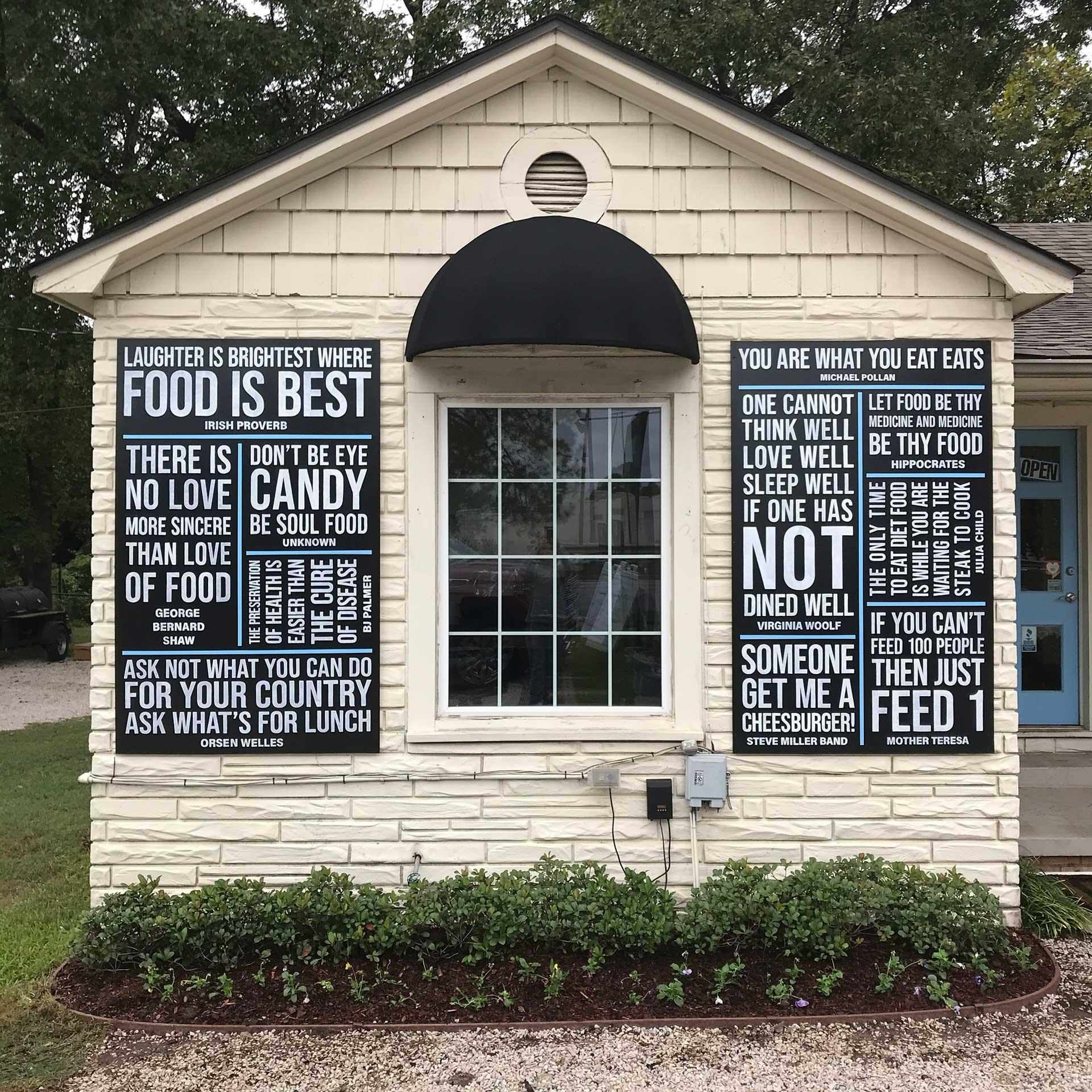 sign mural - hand lettering - custom mural - mural - Dace Kidd - Mural Artist Tx