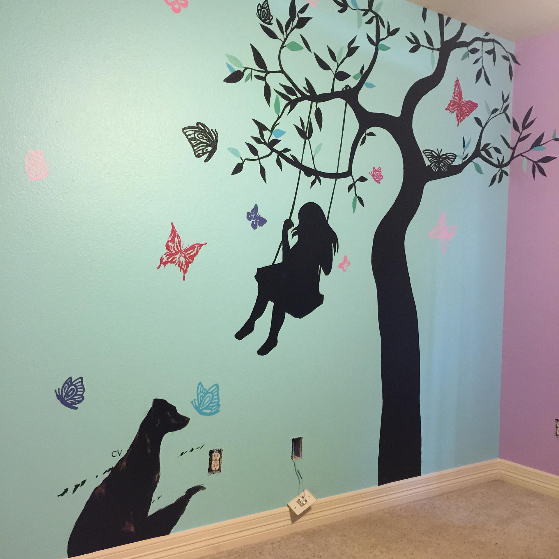 nursery mural - custom mural - mural - Dace Kidd - Mural Artist Tx