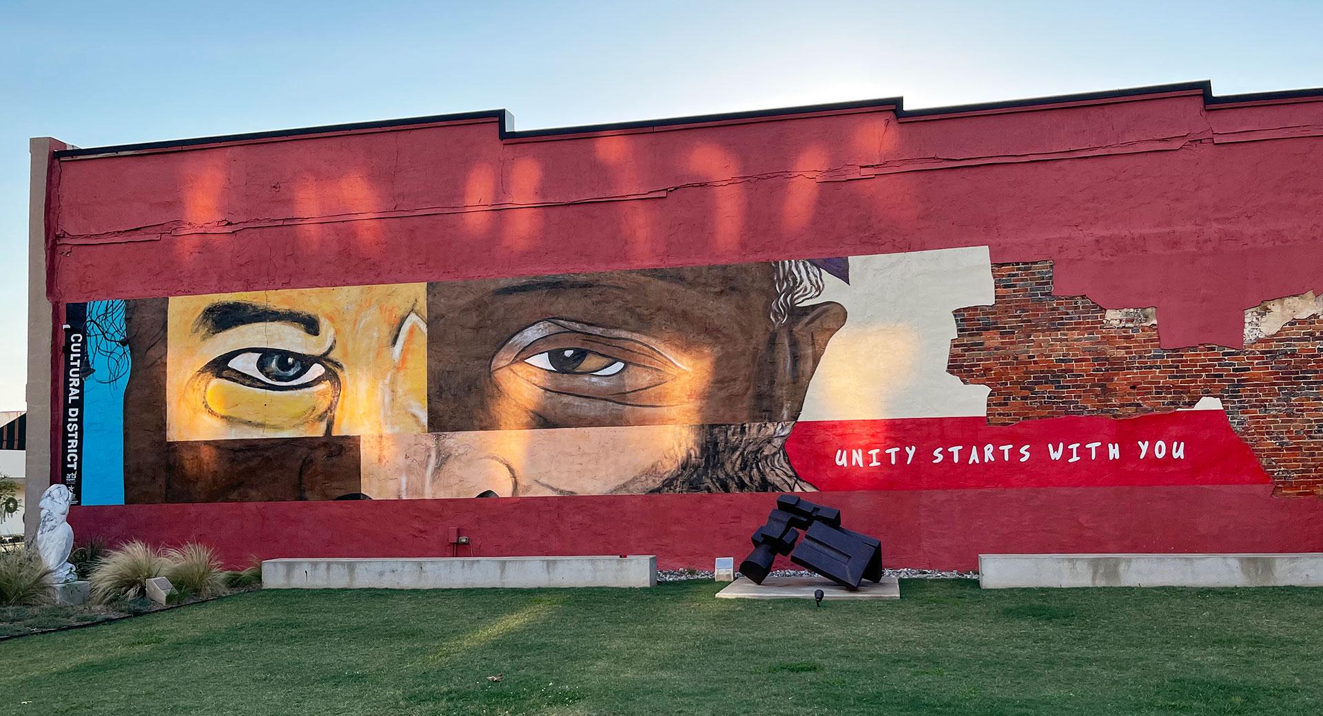 Unity Mural - mural - longview tx - dace Kidd - mural artist tx