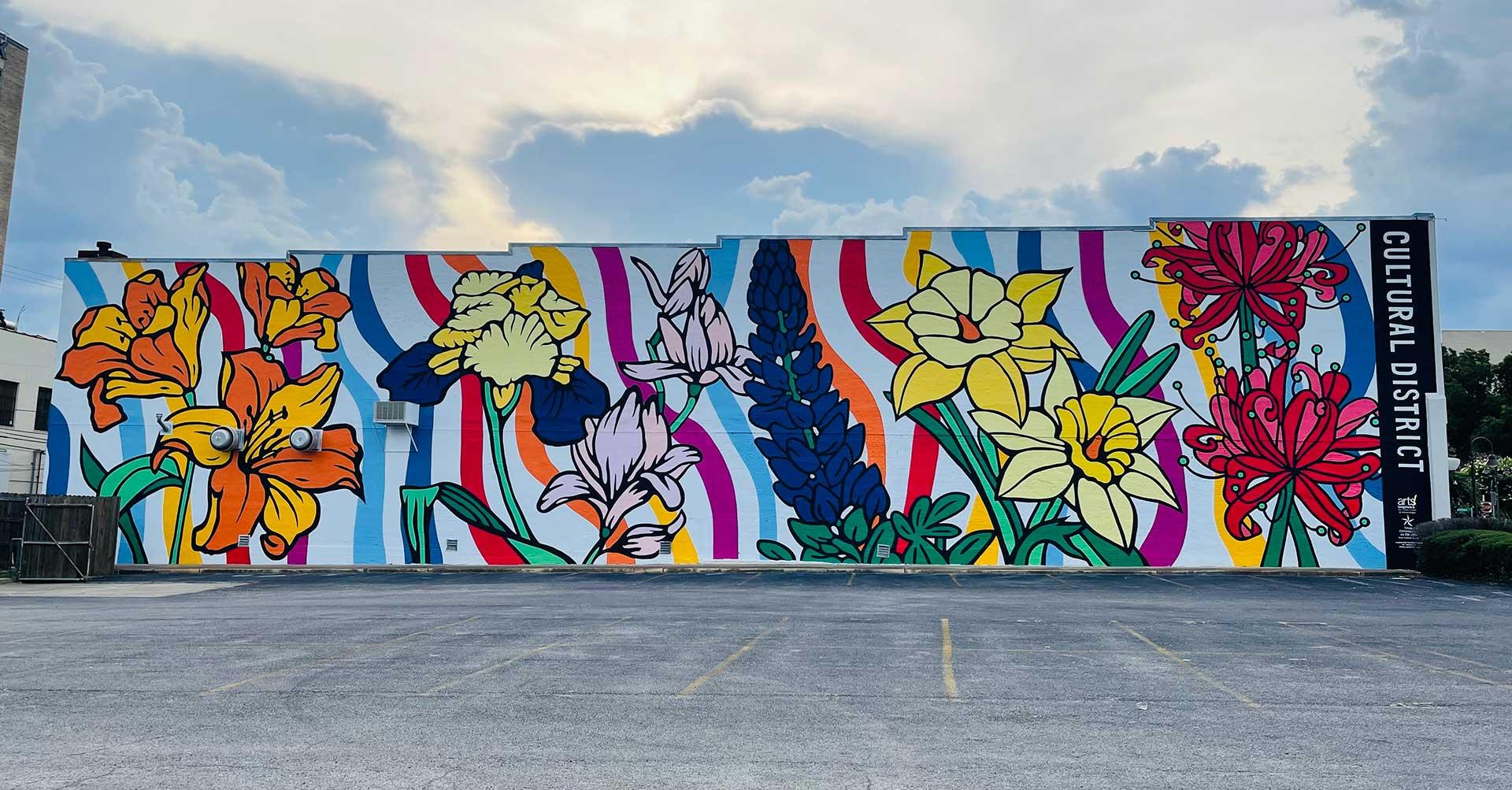 Mural-Artist-Texas-Dace-Kidd-Flower-Power